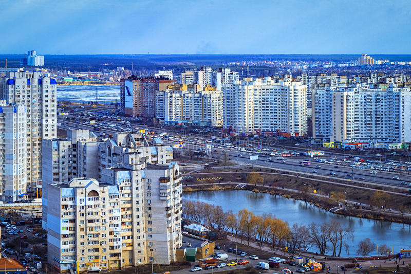Download Rangées Résidentielles à Kiev, Ukraine Image stock éditorial - Image du soirée, horizontal: 87700074