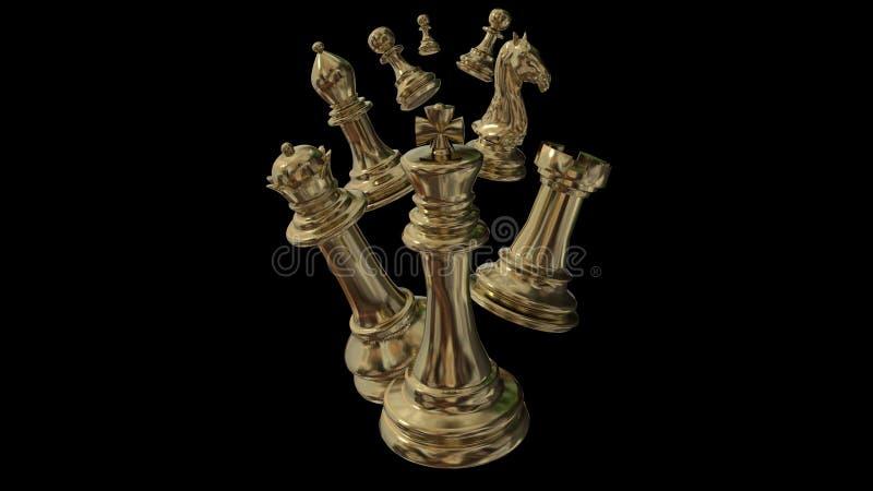 Rang d'or d'?checs que tous les gages iaolated illustration de vecteur