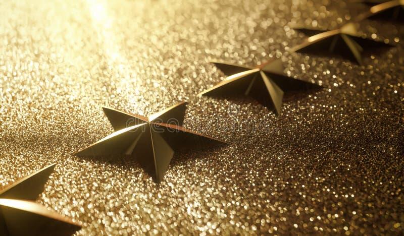 Rang d'examen d'étoile de l'or cinq photographie stock libre de droits