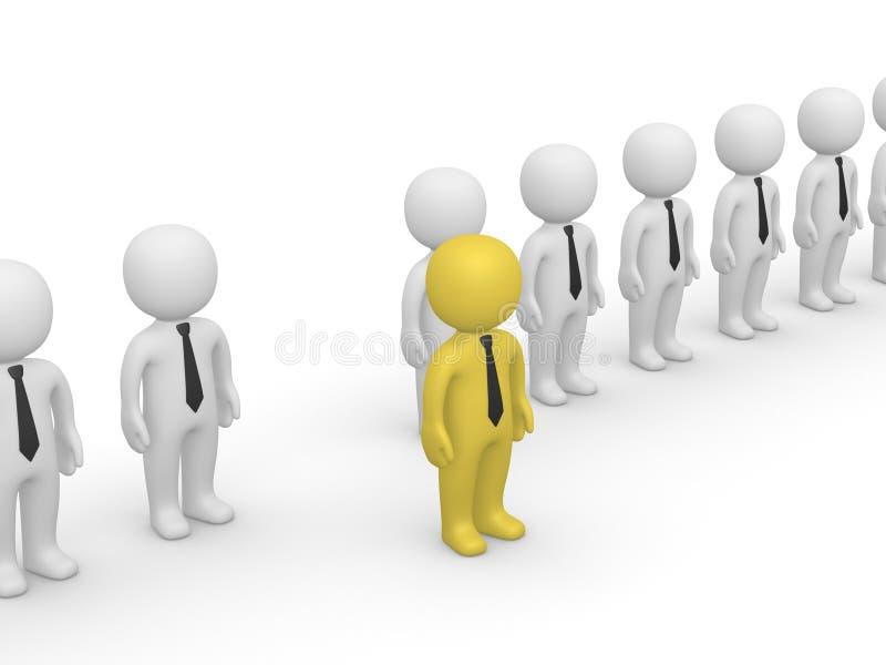 Rang des gens 3d avec une position à l'extérieur illustration de vecteur