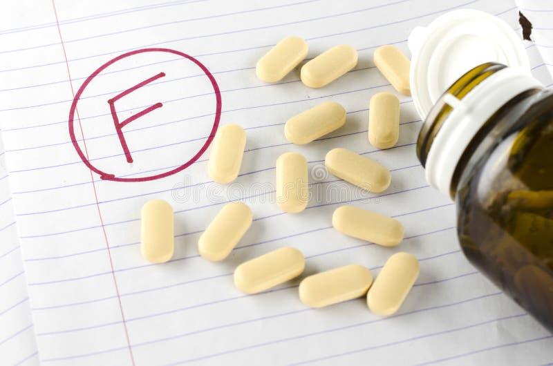 Rang F met drug stock afbeelding