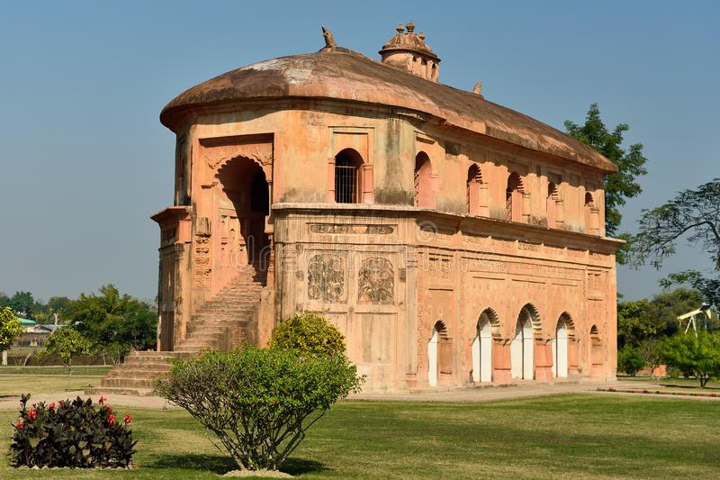 The Rang Ghar, Sivasagar, Assam India. The Rang Ghar  the royal sports-pavilion where Ahom kings and nobles were spectators at games located close the Sivasagar royalty free stock photography