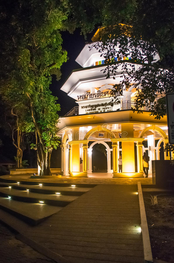 Rang hill vew point. Rang hill View point kaoRang Phuket in the Night time stock image