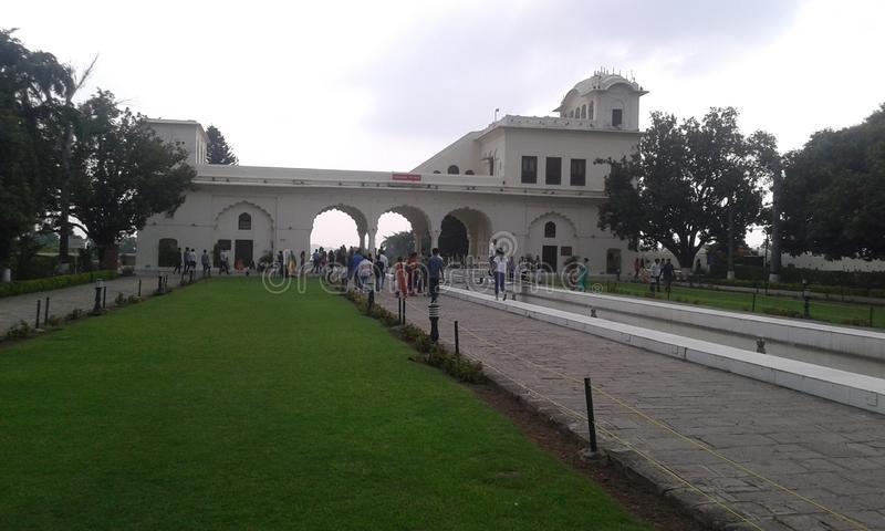 Pinjore Gardens. Rang Mahal of the historic 17th century garden, Haryana, India royalty free stock photos
