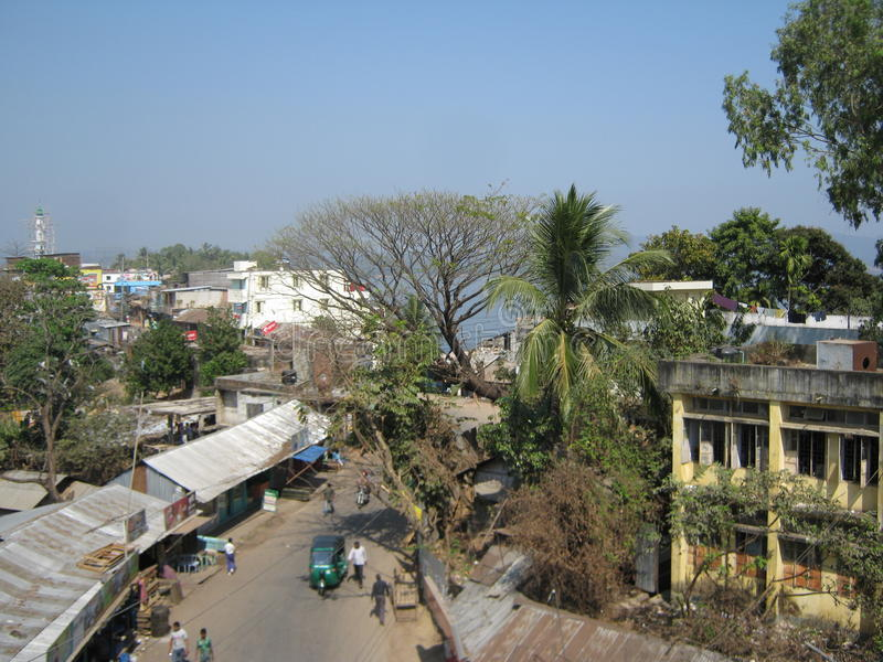 Rangamati stad Bangladesh arkivbild