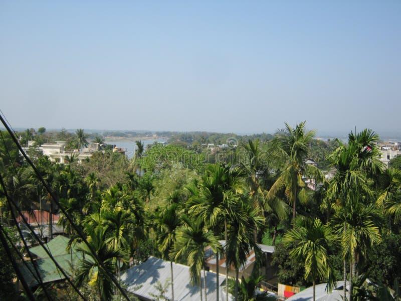 Rangamati stad Bangladesh royaltyfria bilder
