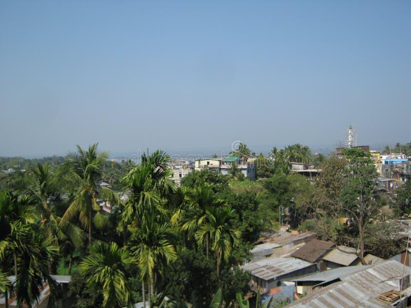 Rangamati stad Bangladesh royaltyfri fotografi