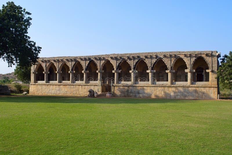 Rangatempel, Hampi-Monumenten, Karnataka stock fotografie