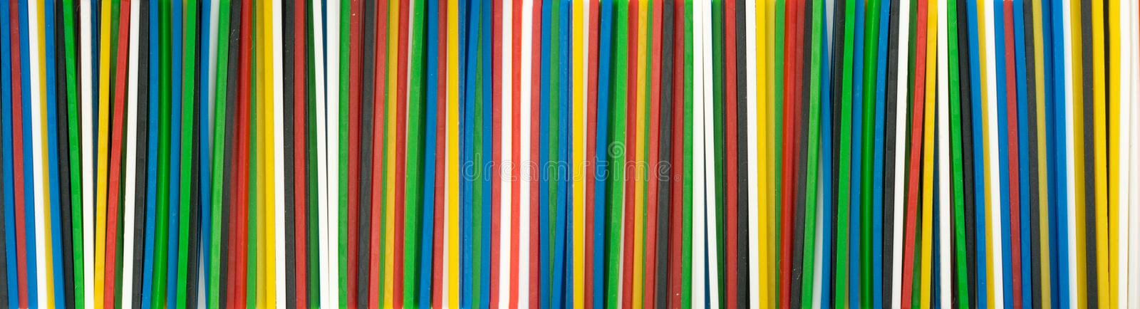 Range of Colorful Plastic Math Sticks for Learning Mathematic stock image