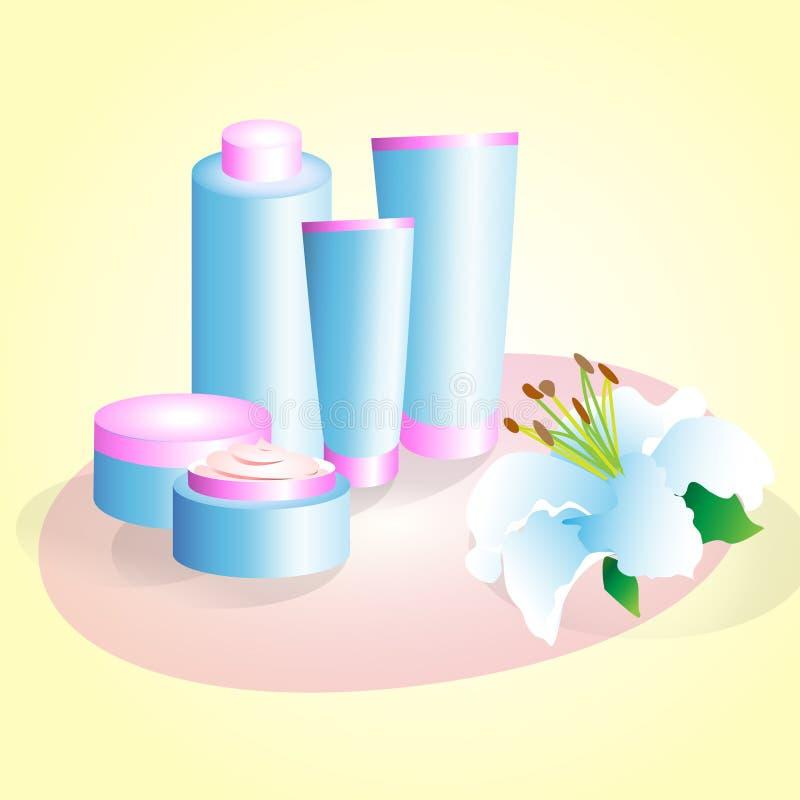 Range of creams stock photo