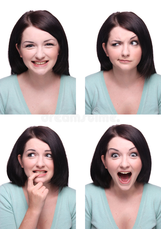 Range of expressions stock image