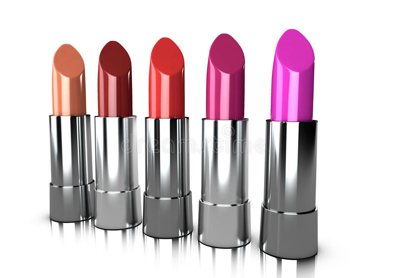 Download A Range Of Lipstick Colours Stock Illustration - Image: 11001469