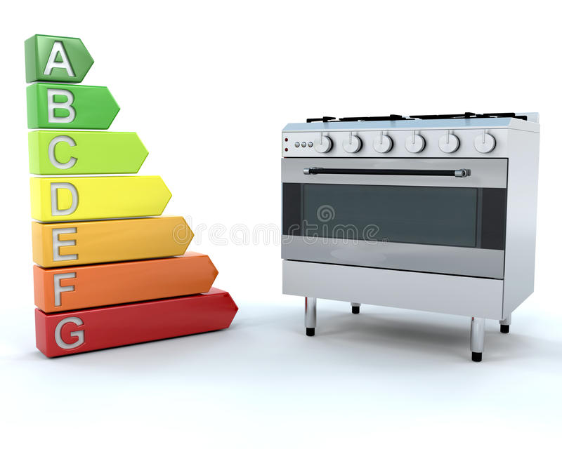 Download Range Oven And Energy Ratings Stock Illustration - Image: 11602230