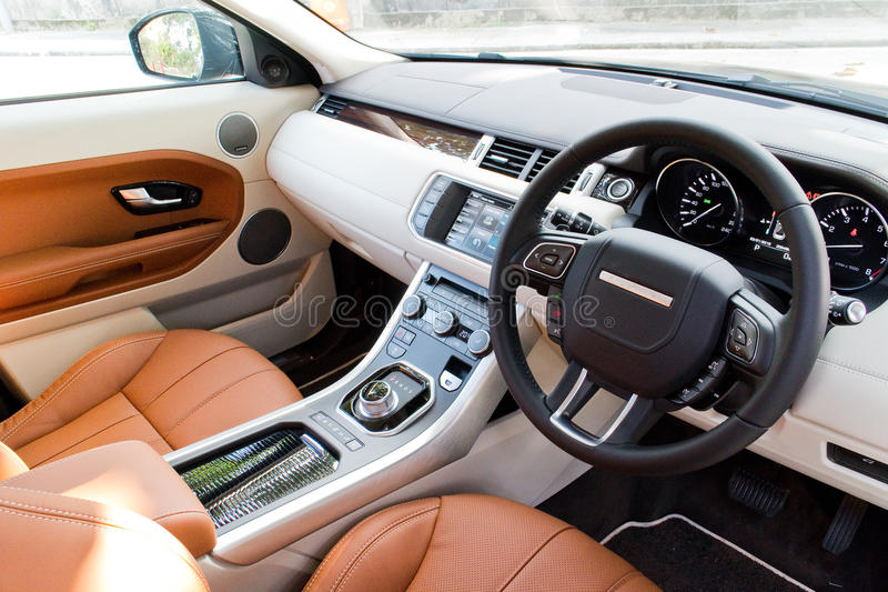 range rover evoque autobiography 2015 interior editorial photo