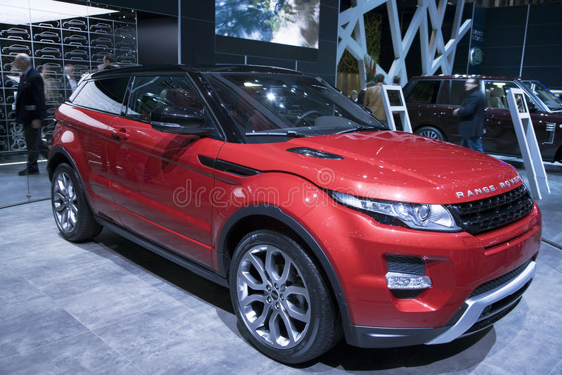 Range Rover Evoque Coupe. From Land Rover at the 2011 Geneva Motor Show. Photo taken on: March 04th, 2011 stock photos