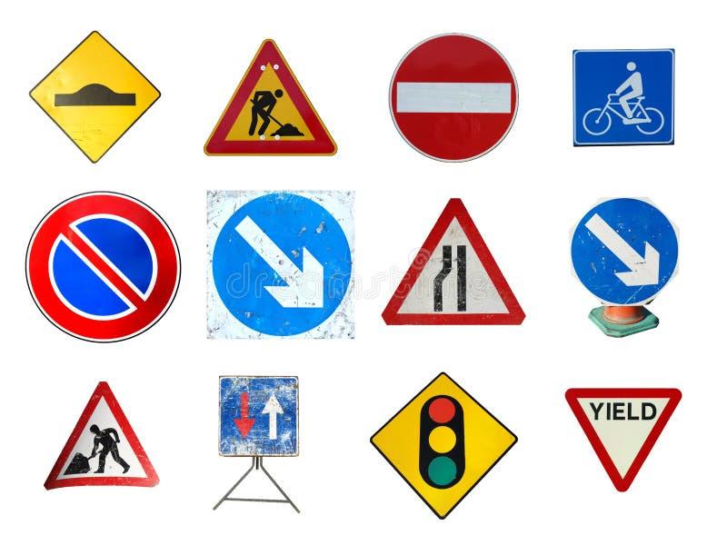 Range of traffic signs stock photo
