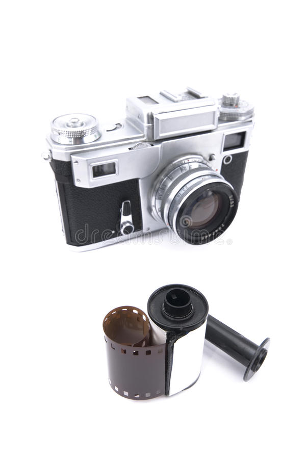 Rangefinder Camera With 35mm Film Stock Images