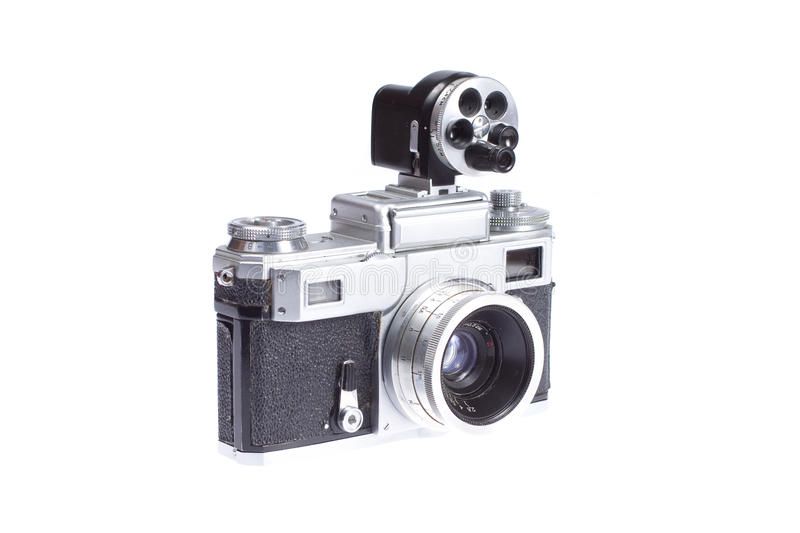 Download Rangefinder Camera With Additional Viewfinder Stock Photo - Image: 17224242