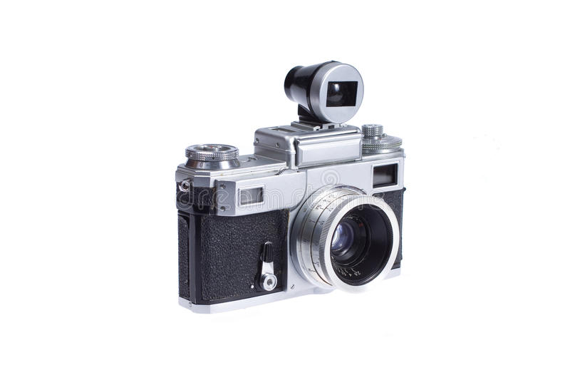 Download Rangefinder Camera With Additional Viewfinder Stock Photo - Image: 17224286