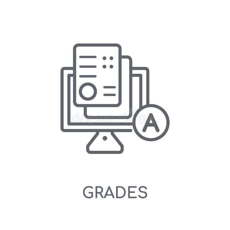 Rangen lineair pictogram Het moderne overzicht sorteert embleemconcept op wit stock illustratie