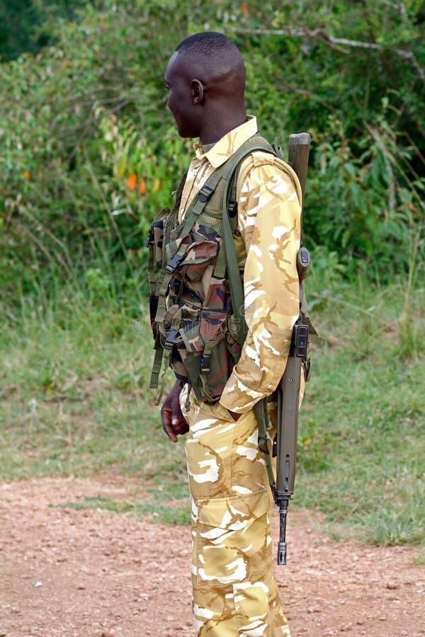 Ranger, Maasai Mara Game Reserve, Kenya. Ranger in Maasai Mara Game Reserve, Kenya stock photo