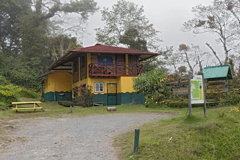 Ranger station of the Volcan Baru National Park at Boquete Panama.  royalty free stock images