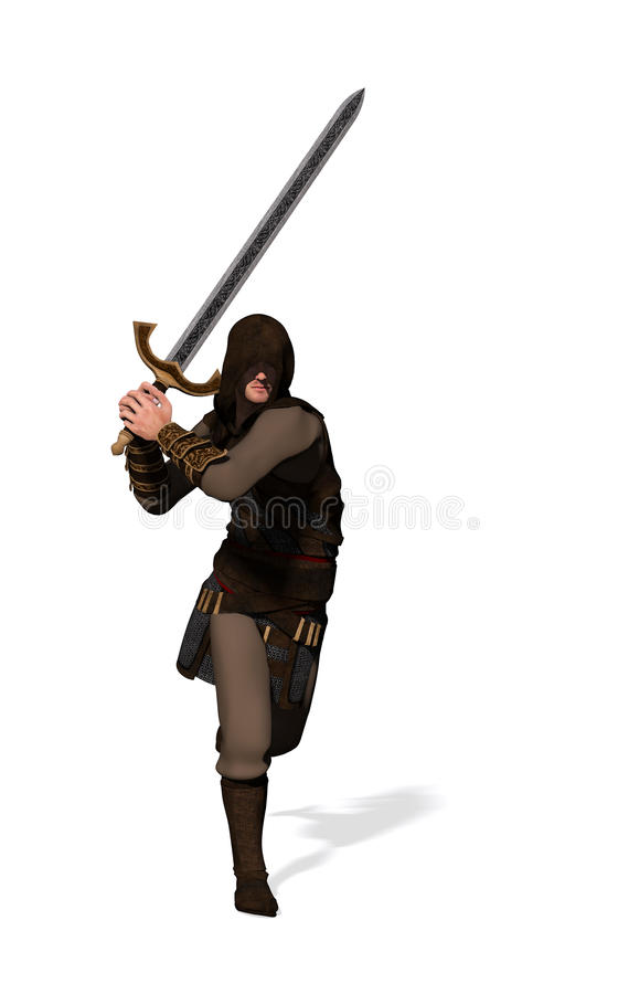 Ranger warrior royalty free illustration