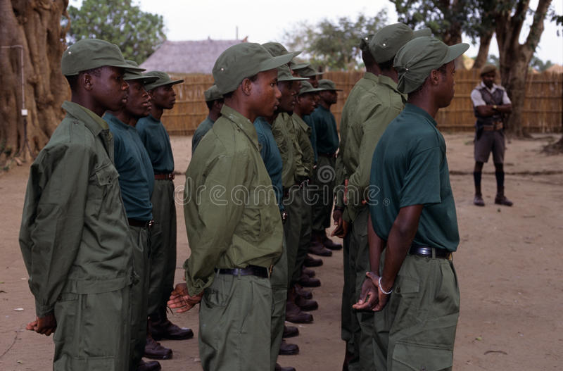 Download Rangers During A Drill In The Gorongosa National Park Editorial Photo - Image: 25576061