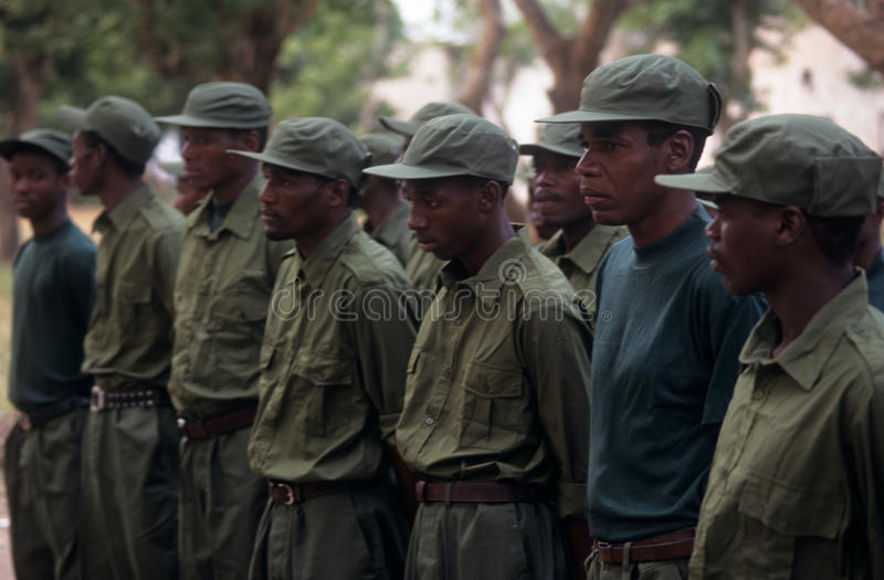 Rangers During A Drill In The Gorongosa National Park Editorial Photo