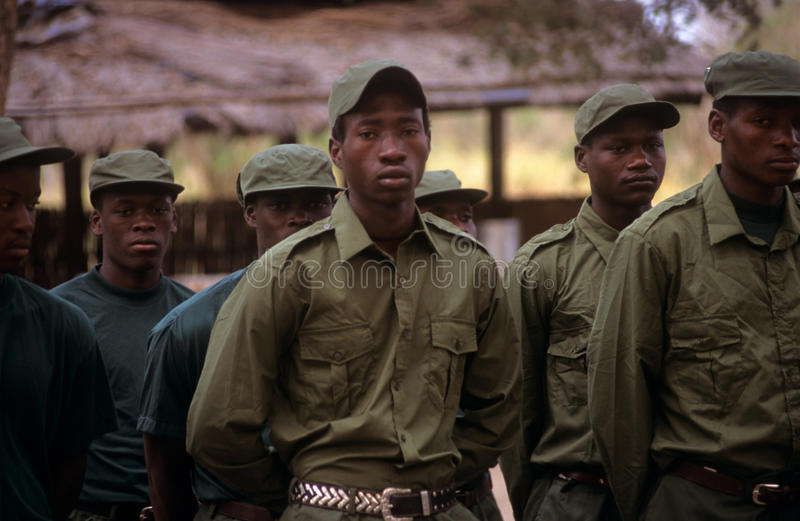 Download Rangers During A Drill In The Gorongosa National Park Editorial Stock Image - Image: 25576084