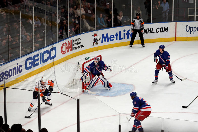 Rangers x Islanders Ice Hockey Game royalty free stock photography