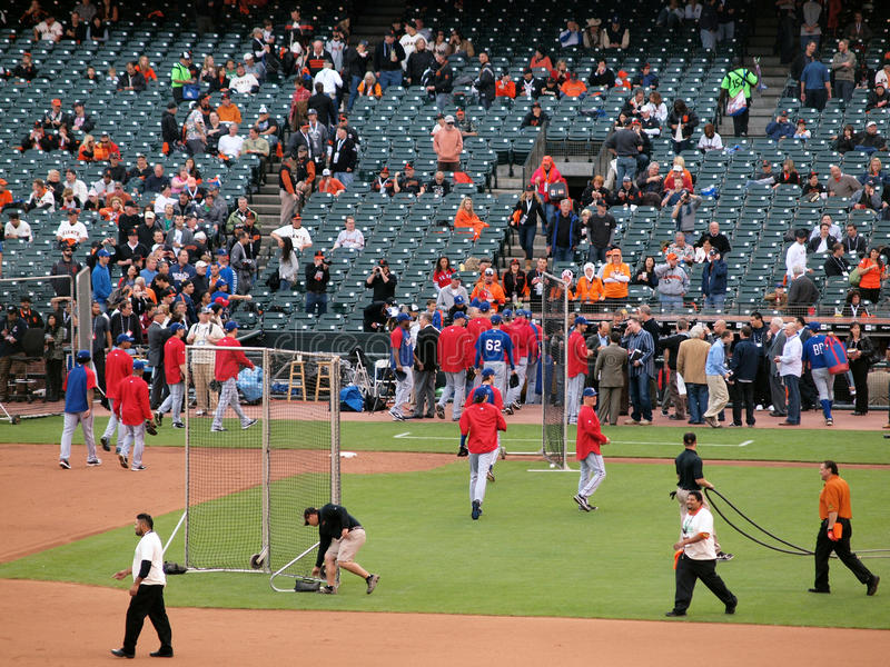 Download Rangers Run Into Dugout After Batting Practice Editorial Image - Image of action, outdoor: 17015545