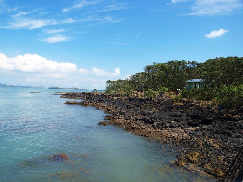 rangiototo wyspy auckland nowe Zelandii fotografia royalty free