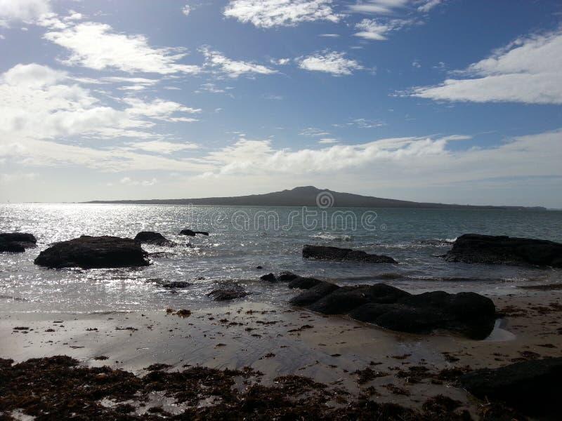 Rangitoto ö, Auckland, Nya Zeeland arkivfoto