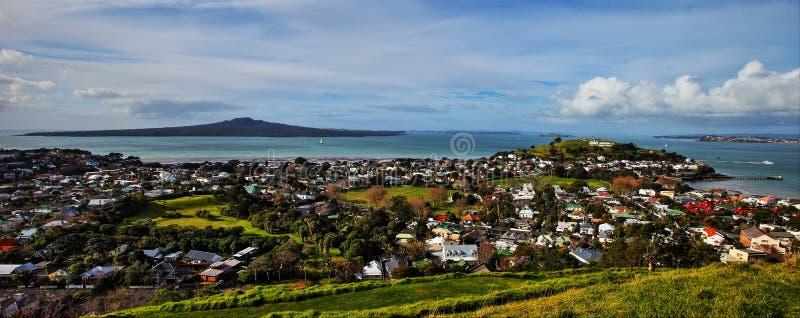 Rangitoto NorthHead i wyspa obrazy royalty free