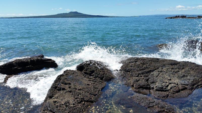 Rangitoto wyspa fotografia royalty free