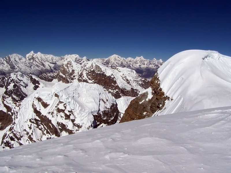 Rango de Everest imagen de archivo libre de regalías