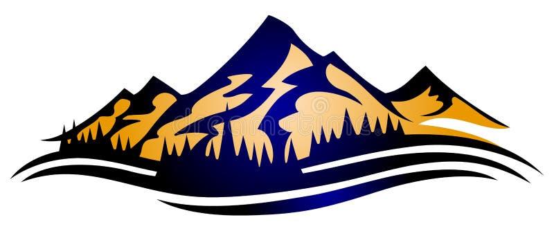 Rango de montaña stock de ilustración