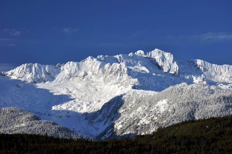 Rango De Montaña Nevado Imagen de archivo