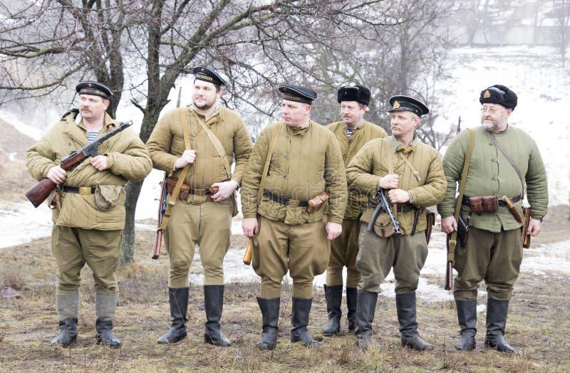 Rango russo dei marinai fotografia stock libera da diritti