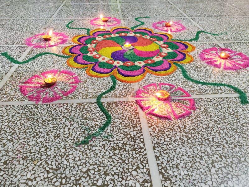 Rangoli στοκ φωτογραφία