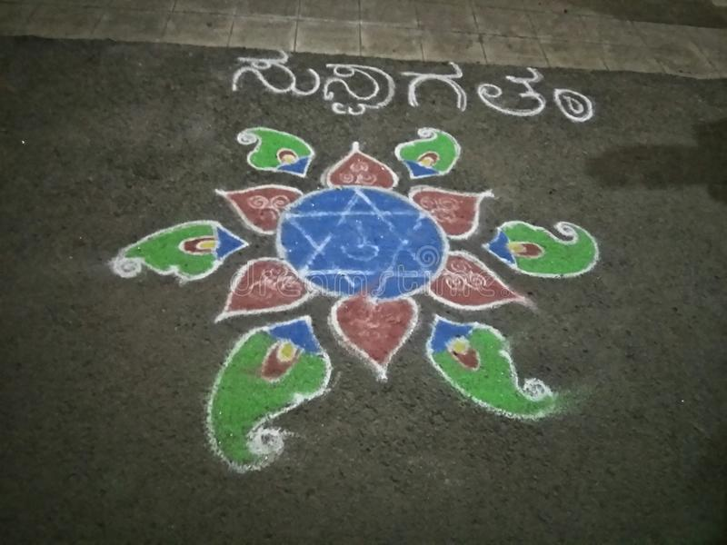 Rangoli στοκ φωτογραφίες
