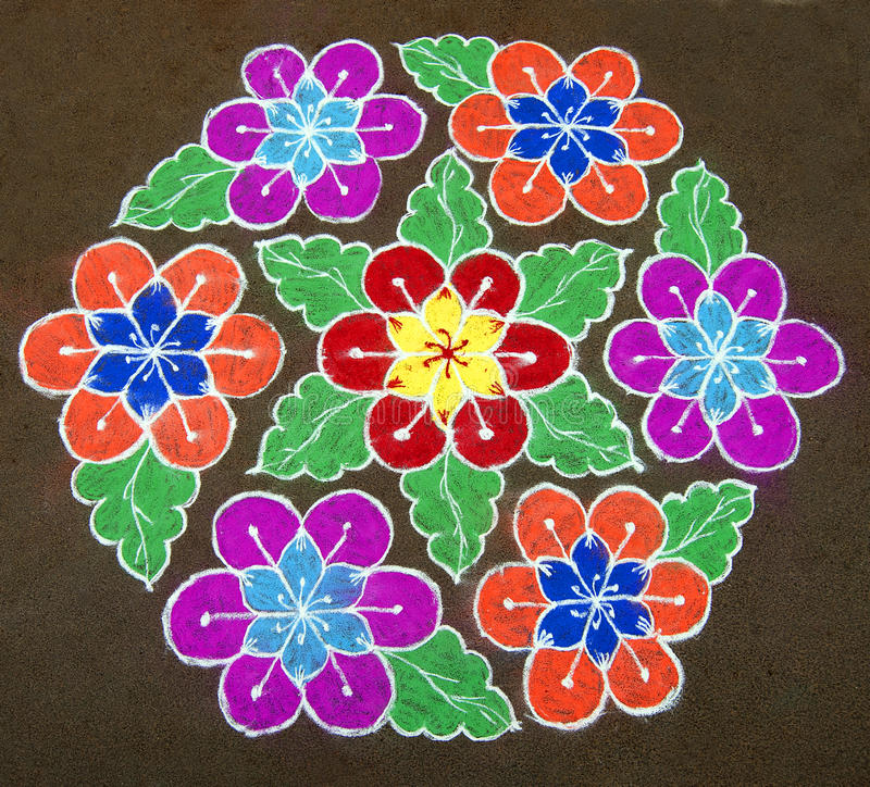 Rangoli royalty free stock photos