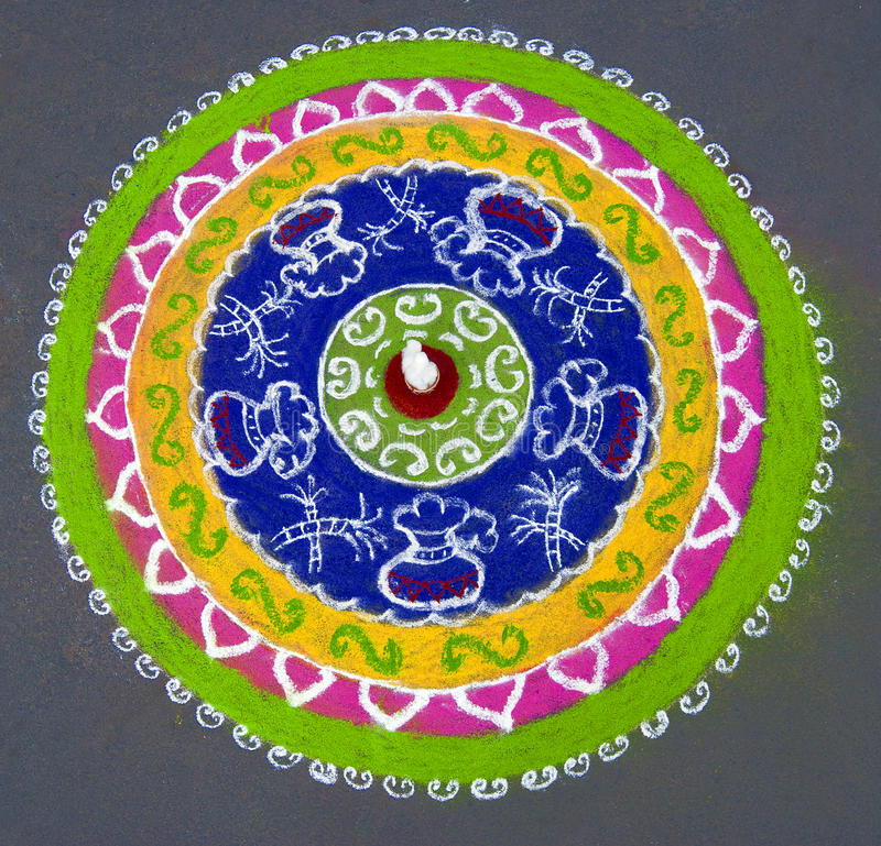 Rangoli stock photo