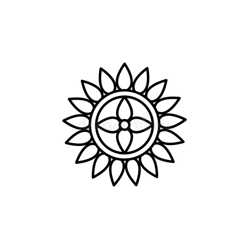 Rangoli dekoraci festiwalu ikona na białym tle Diwali festiwalu Hinduscy elementy dla grafiki i sieci projekta na białym backgrou ilustracji