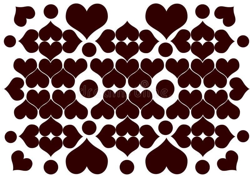 Rangoli do coração ilustração do vetor