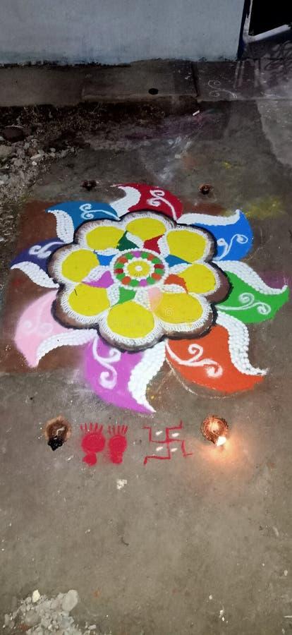Rangoli on  Indian Festival royalty free stock photography