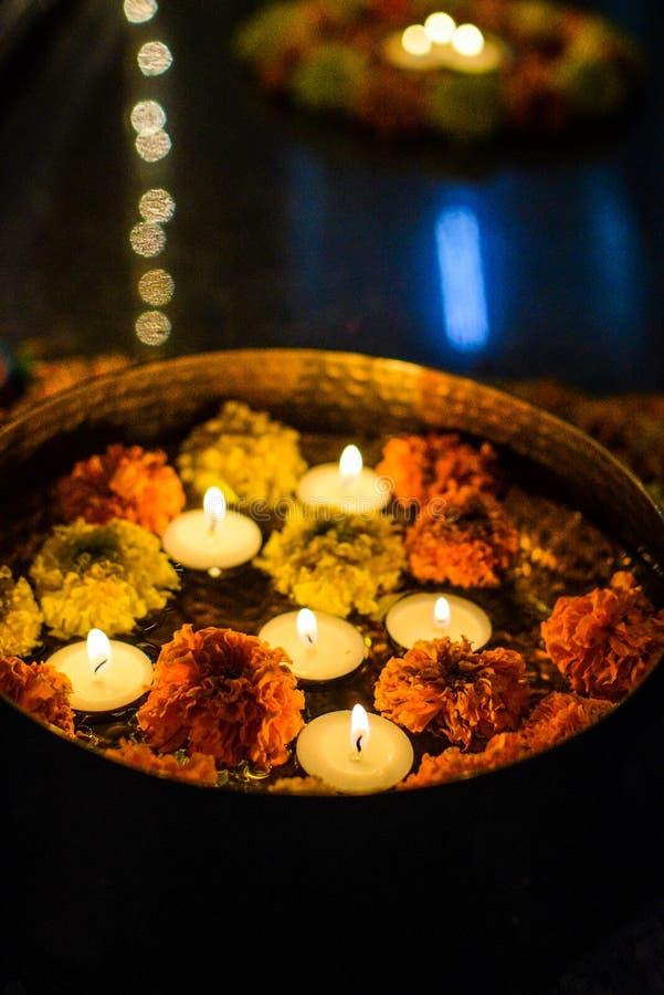 Diwali Lights Colours Rangoli stock image