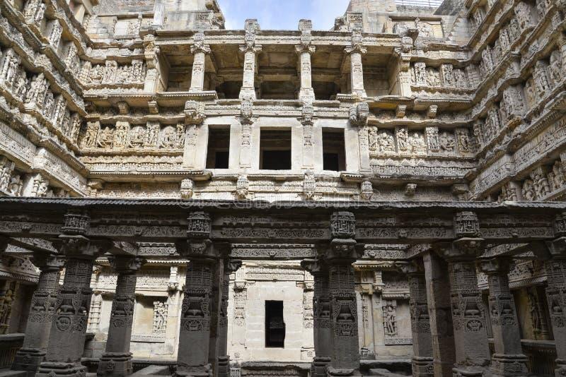 «Rani-ki-Vav», ένας 11ος αιώνας stepwell στο Gujarat, έχει εγκριθεί ως περιοχή παγκόσμιων κληρονομιών στοκ εικόνες