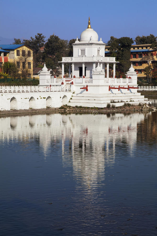 Rani Pokhari Temple, Kathmandu, Nepal stock photo